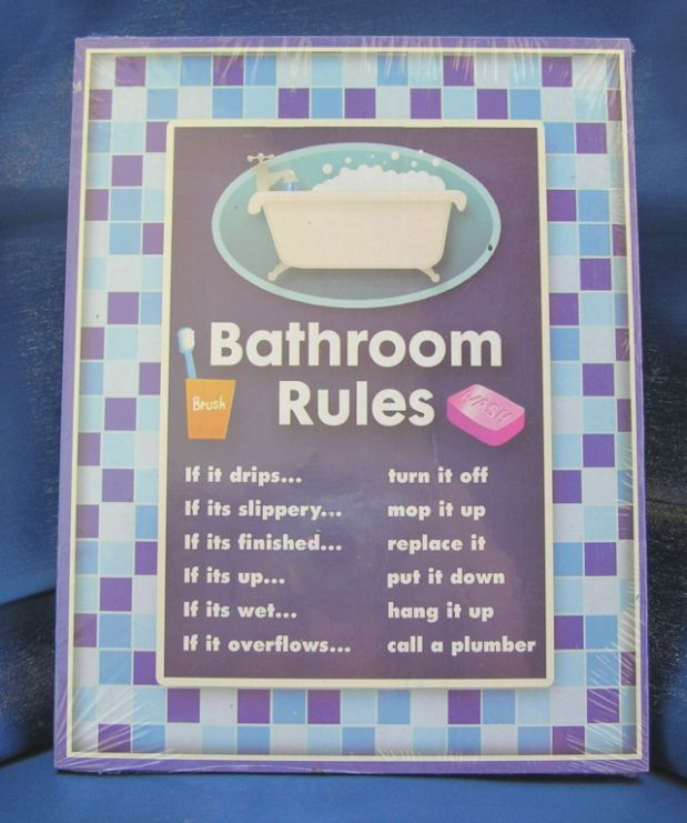 Bathroom Rules Index Of